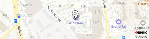 Выбражуля на карте Алматы