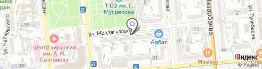 Нотариус Баткалова Н.Б. на карте Алматы