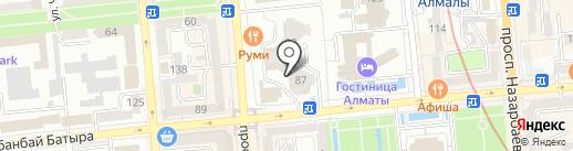 Нотариус Сейтказина Ж.М. на карте Алматы