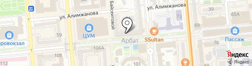 Элита на карте Алматы