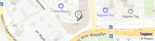 Смайлик на карте Алматы