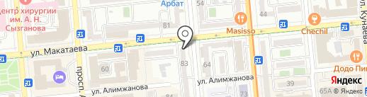 Нурбакыт на карте Алматы
