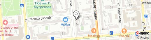 Пивная карта на карте Алматы
