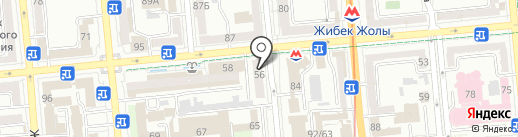 Нота на карте Алматы