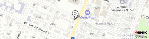 Цветочный киоск на карте Алматы