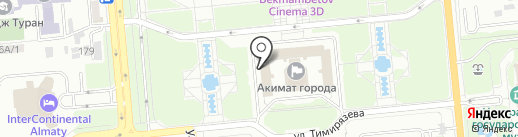 Управление физической культуры и спорта г. Алматы на карте Алматы