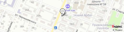 Эльнас на карте Алматы