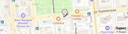 Букла на карте Алматы