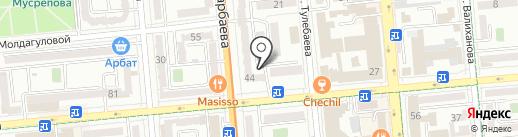 Птичка на карте Алматы