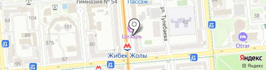 Банкомат, Банк ВТБ (Казахстан), ДО АО на карте Алматы