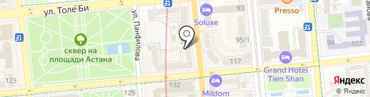 Прогрессив принт на карте Алматы