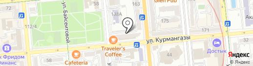 Ак-бата, ПКСК на карте Алматы