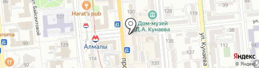Галилео на карте Алматы