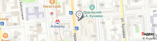 Нотариус Сакауова М.М. на карте Алматы