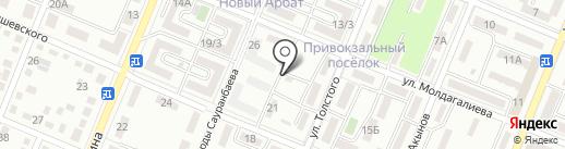 Гаухар, ПКСК на карте Алматы