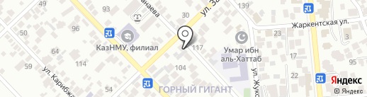 The BAP на карте Алматы