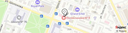 Городская поликлиника №9 на карте Алматы