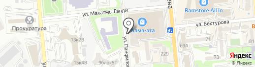 Тас-Темир Алматы на карте Алматы
