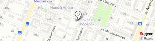 Сархан на карте Алматы