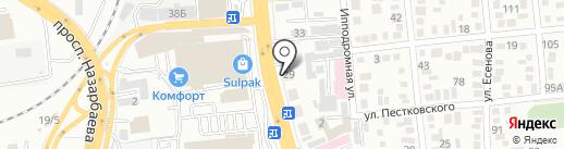 Магнит на карте Алматы