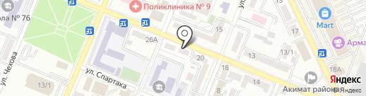 Бел на карте Алматы