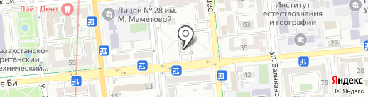 McDonald`s на карте Алматы