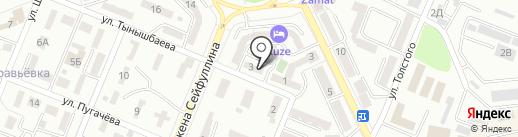MZ на карте Алматы