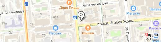 Kuraga на карте Алматы