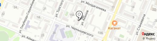 Диполь на карте Алматы