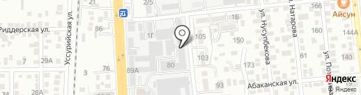 Анис на карте Алматы