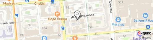 Алматинский ремонтно-восстановительный завод средств вычислительной техники, ТОО на карте Алматы