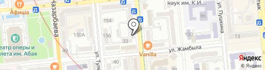 Эгида на карте Алматы