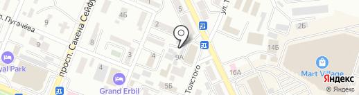 Нотариус Егембердиев С.Т. на карте Алматы