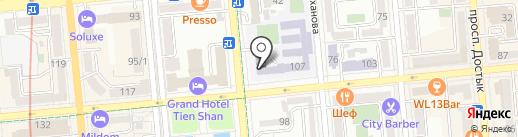 Гимназия №12 им. Ш. Уалиханова на карте Алматы