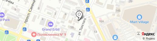Нотариус Усманов Е.З. на карте Алматы