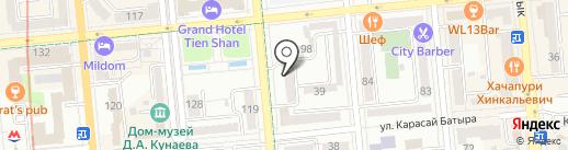 Цефиро, ТОО на карте Алматы