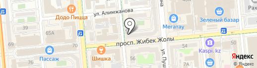 Магазин тканей, швейной фурнитуры и товаров для творчества и рукоделия на карте Алматы
