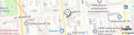 Служба пожаротушения и аварийно-спасательных работ на карте Алматы