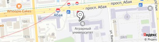 Алматинский аграрный колледж на карте Алматы