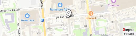 Самал, бизнес-центр на карте Алматы