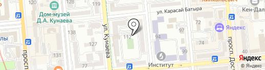 Академик на карте Алматы