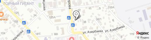 Магазин одежды на карте Алматы