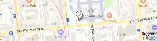 Адам алеми на карте Алматы