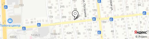 Астана на карте Алматы