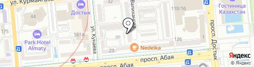Институт Азиатских исследований на карте Алматы