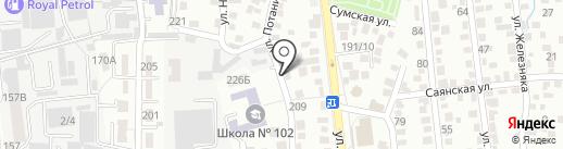 Akrost на карте Алматы