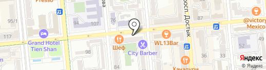 Бочонок на карте Алматы