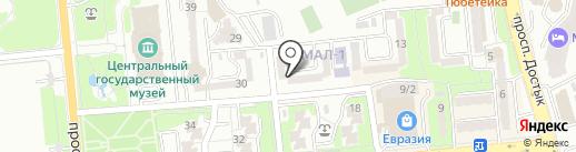 Зоо и Сад на карте Алматы