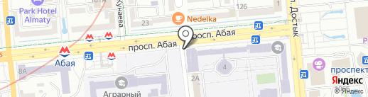Университет КИМЭП на карте Алматы