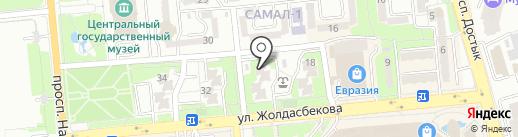 Телефоны.kz на карте Алматы